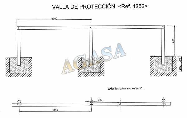 Art culos mobiliario urbano mobiliario r stico - Vallas de proteccion ...