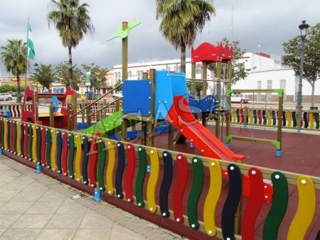 Art culos parques y juegos infantiles y para guarderias for Vallas infantiles plastico