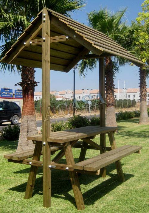 Art culos mobiliario urbano mobiliario r stico for Bancos merenderos de madera