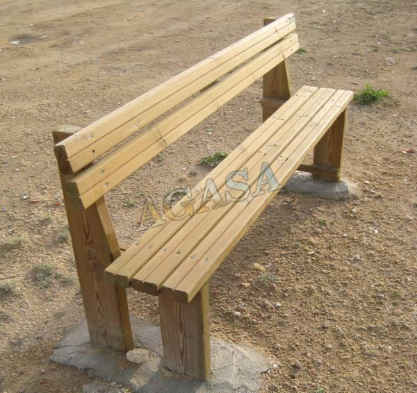 Art culos mobiliario urbano bancos o asiento bancos o asientos de madera r sticos agasa - Banco de madera rustico ...