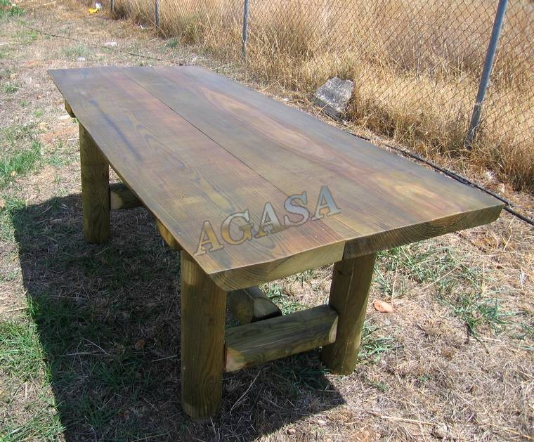 Venta gran mesa rustica de madera para el campo tabl n - Mesas de campo ...