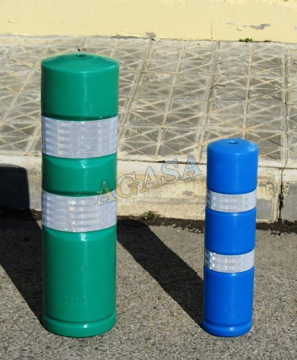 Art culos mobiliario urbano bolardos pivotes pilonas for Vallas infantiles plastico