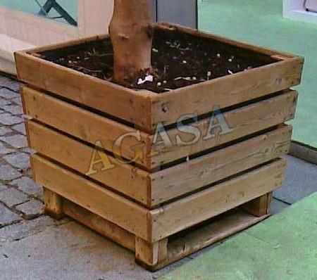 Jardineras con palets reciclados interesting with for Jardineras con palets de madera