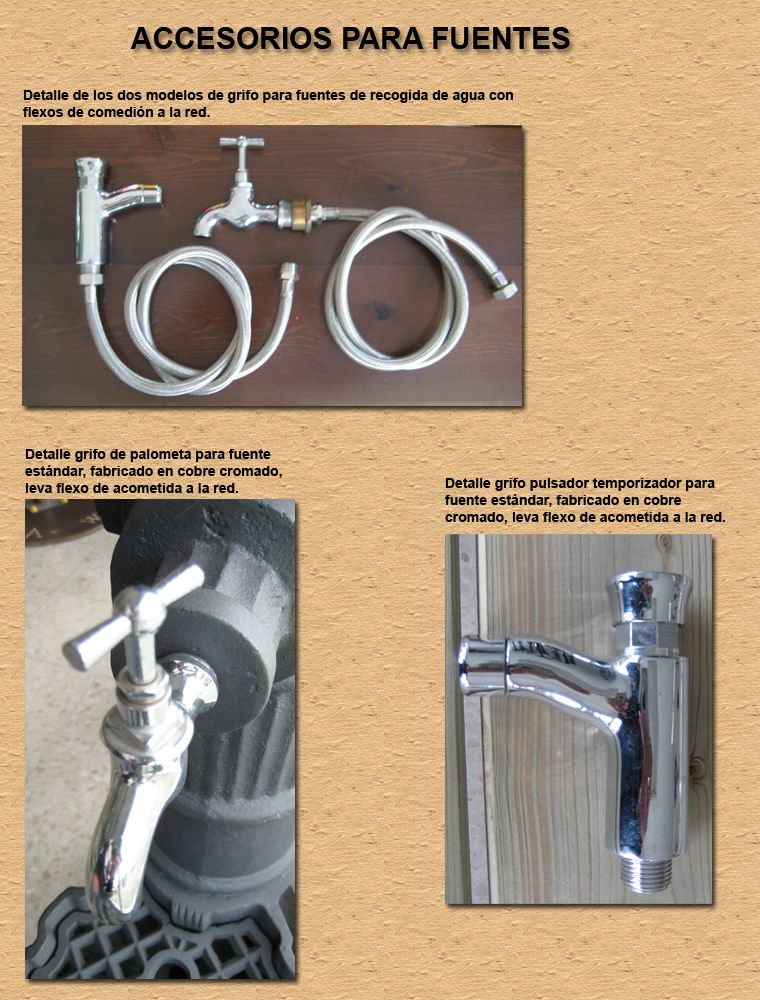 Fuente exterior de agua en fundicion de aluminio con for Aluminio productos de fundicion muebles de jardin